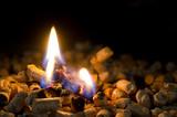pellet che brucia
