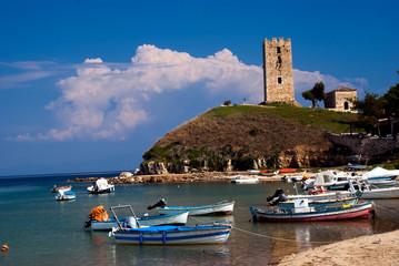 ea Fokea summer resort at Kassandra of Halkidiki peninsula in Gr