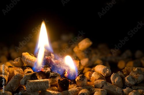 pellet che brucia - 70089915