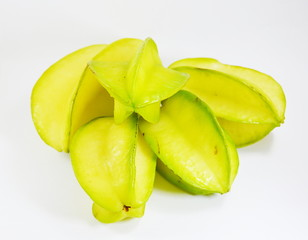 star apple on white background