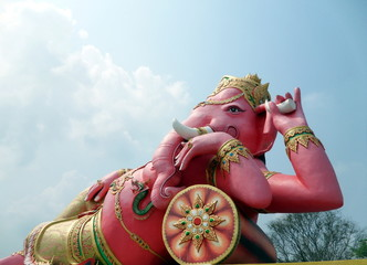 elephant - headed god in pink