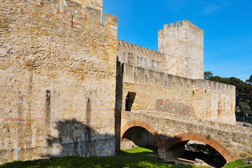 Castle of Sao Jorge in Lisbon, Portugal