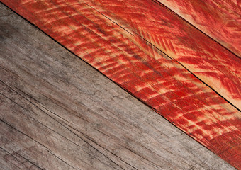 grey and red grungy wood background