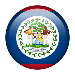 Belize flag button