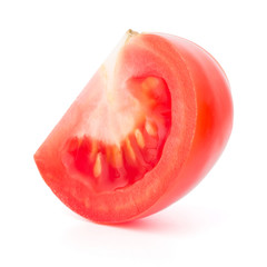 Tomato vegetable part  isolated on white background cutout