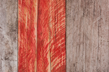 grey and red grungy wood texture background