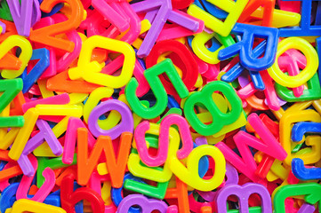 English alphabet and number background