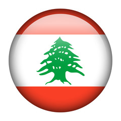 Lebanon flag button