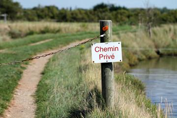 Panneau chemin privé