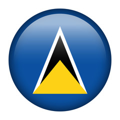 Saint Lucia flag button