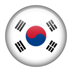 South Korea flag button