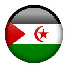 Western Sahara flag button