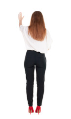back view of business woman.