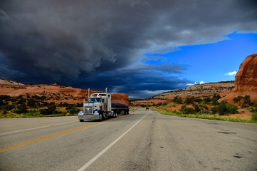 The truck on the thunder road