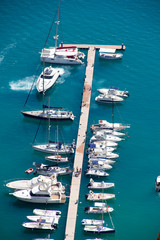 Wharf with boats