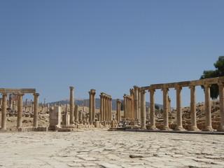 Foro, plaza oval en Jerash (Gerasa) Jordania