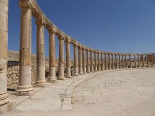 Foro (Plaza Oval) Gerasa (Jerash) , Jordania