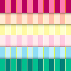 Six tone, six patterns and backgrounds vector illustration