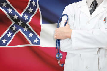 Concept of US national healthcare system - state of Mississippi