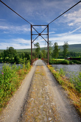 Krajobraz wiejski, jesień, most