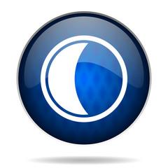 moon internet blue icon
