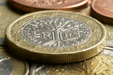 Pièces en euro de la France French coins Französische Euromünzen