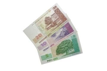 Latvian banknote lats