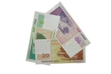 Latvian banknote lats series