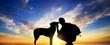 Leinwanddruck Bild - The boy with a dog
