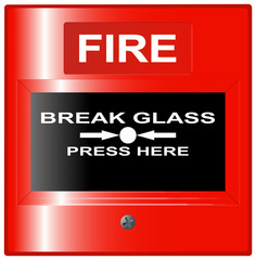 Emergency Fire Button Red