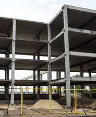 Concrete framework of the future building in the construction si