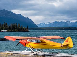 Wasserflugzeug auf einem See