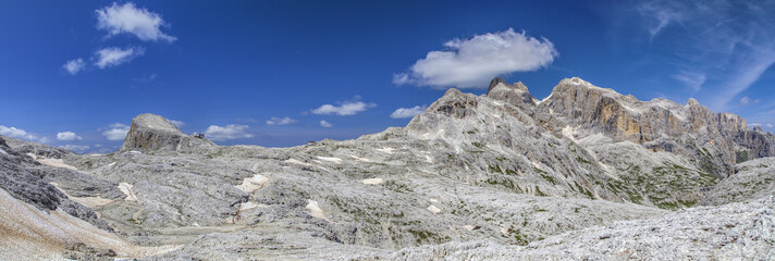 Panorama of Rosetta and the Monte Corona in the Dolomites