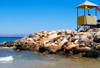 Lifeguard hut in Crete