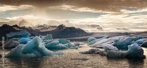 Spoed canvasdoek 2cm dik Gletsjers Jokulsarlon