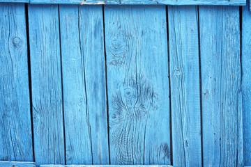 Alte blaue Holztüre