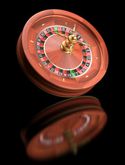 Roulette wheel. Clipping path included.