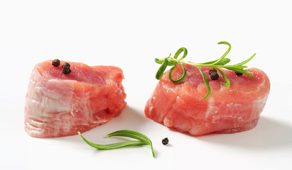 Raw Pork Fillet Medallions