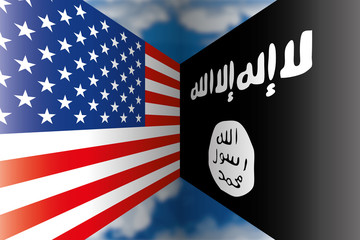 usa isis flags