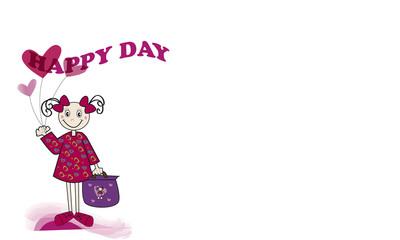 Happy day y niña feliz