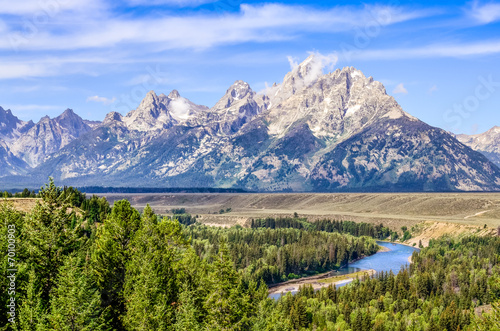 Grand Teton mountains scenic view with Snake river © Martin M303