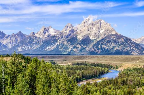 Grand Teton mountains scenic view with Snake river © Martin M303