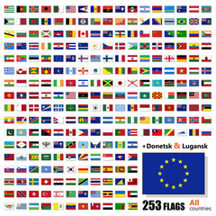 World Flags Collection - All Sovereign States Set - Vector