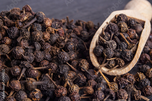 Black Peppercorn (Cubeb) Isolated on white background - 70101332