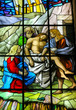 Jesus carried to His Tomb - stained glass