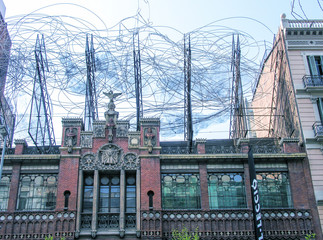 BARCELONA - MAY 24: The facade of the house Casa Battlo (also co