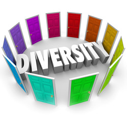 Diversity 3d Word Many Choices Ethnic Racial Backgrounds Heritag