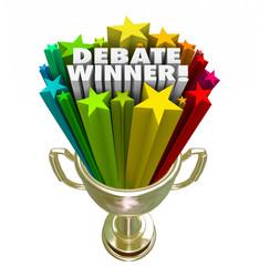 Debate Winner Gold Trophy Prize Best Argument Skill