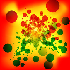 Colorful vector art background with dots