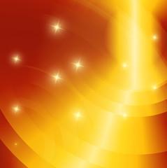 Glowing star orange background